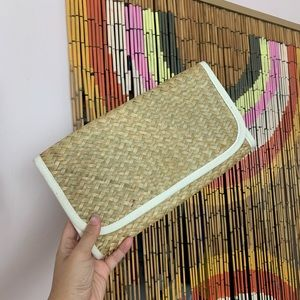 Vintage woven bamboo clutch!